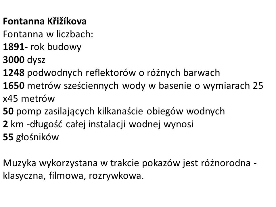 Fontanna Křižíkova