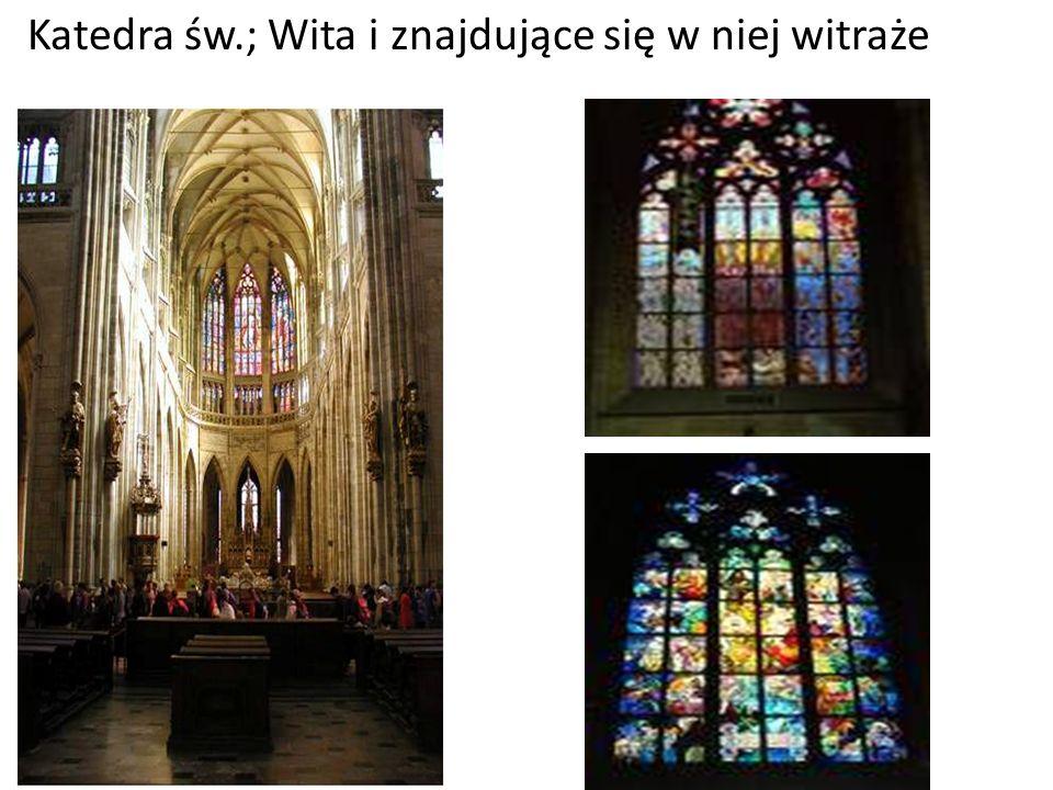 Katedra św.; Wita i znajdujące się w niej witraże