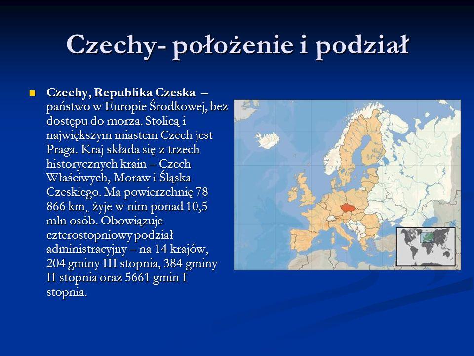 Czechy- położenie i podział