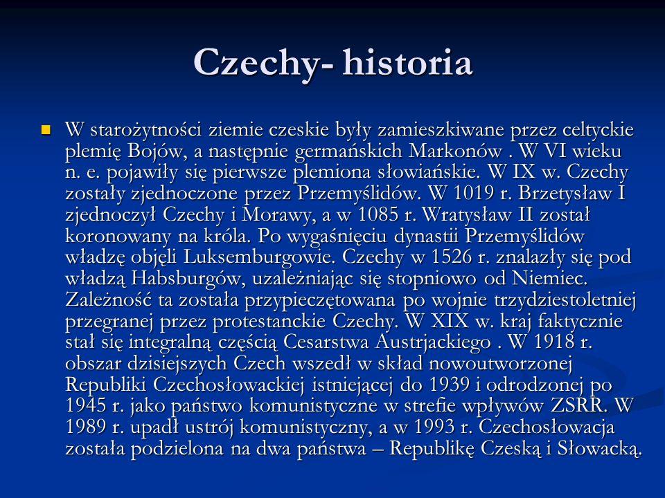 Czechy- historia