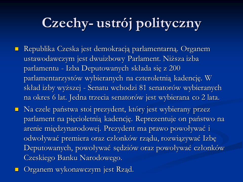 Czechy- ustrój polityczny