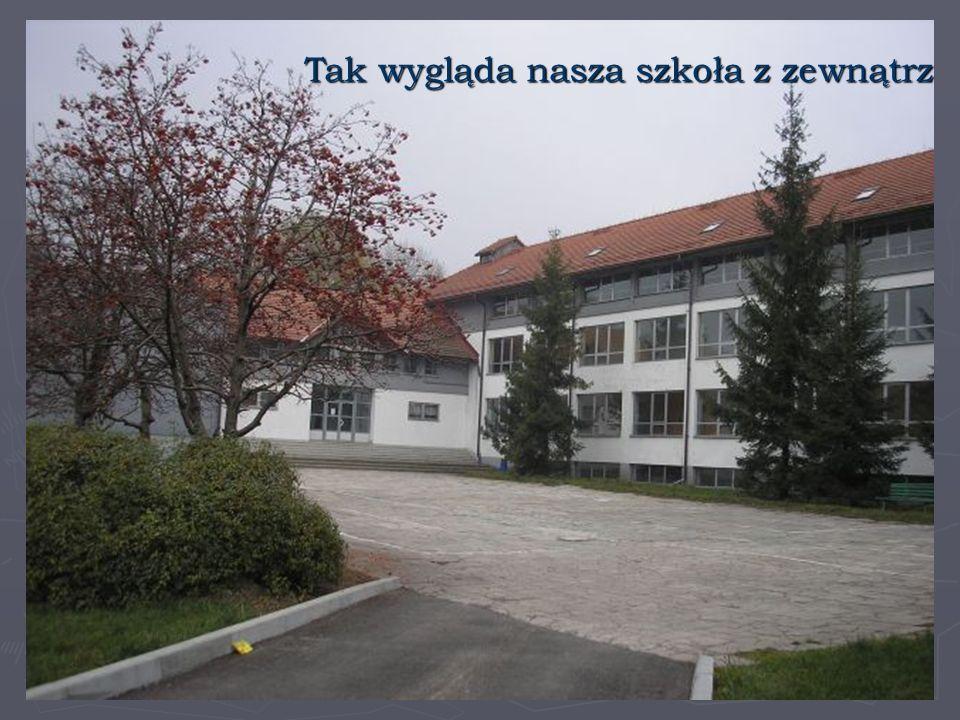 Tak wygląda nasza szkoła z zewnątrz