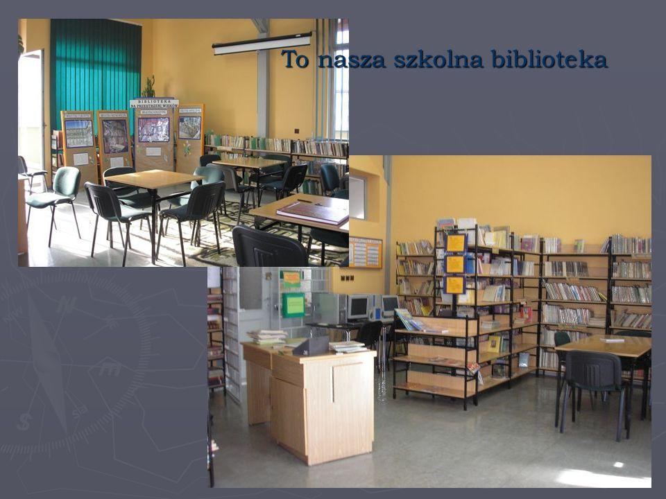 To nasza szkolna biblioteka