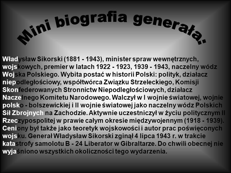 Mini biografia generała: