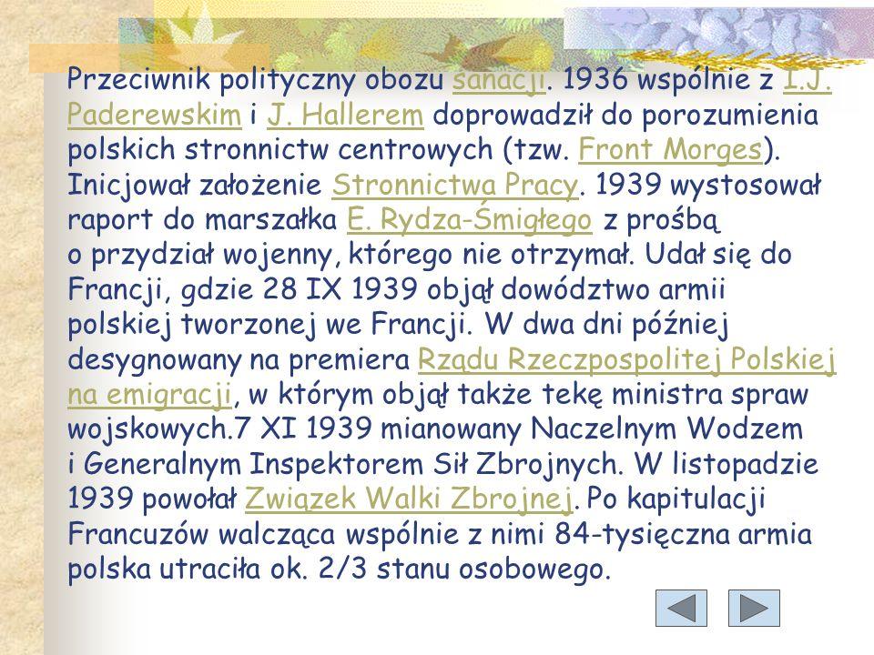 Przeciwnik polityczny obozu sanacji. 1936 wspólnie z I. J