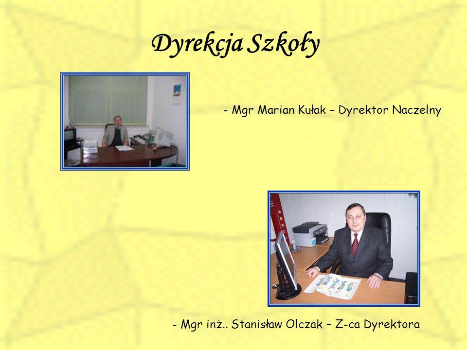 Dyrekcja Szkoły - Mgr Marian Kułak – Dyrektor Naczelny