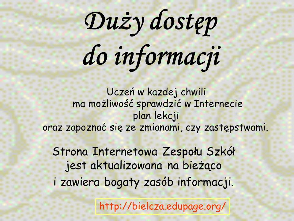 Duży dostęp do informacji