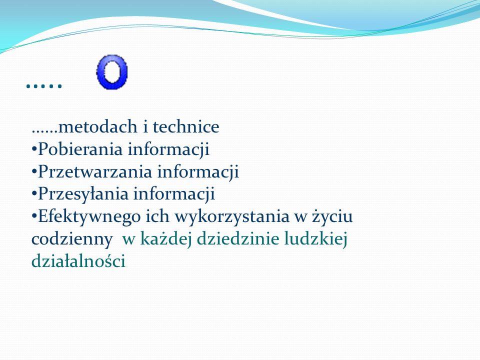 ….. ……metodach i technice Pobierania informacji