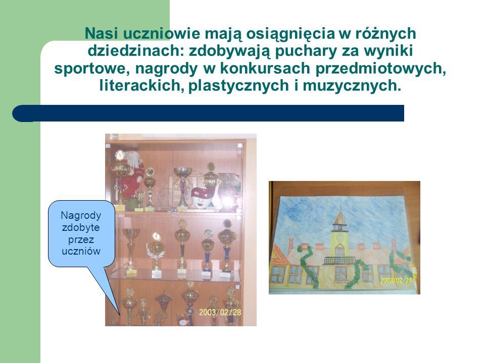 Nagrody zdobyte przez uczniów