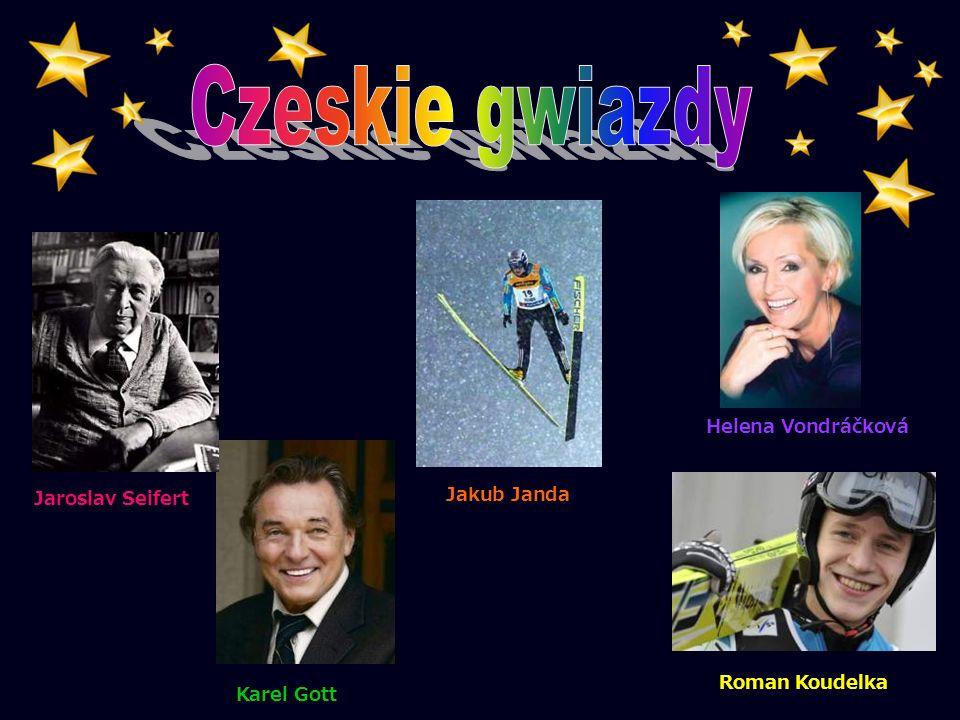 Czeskie gwiazdy Helena Vondráčková Jaroslav Seifert Jakub Janda