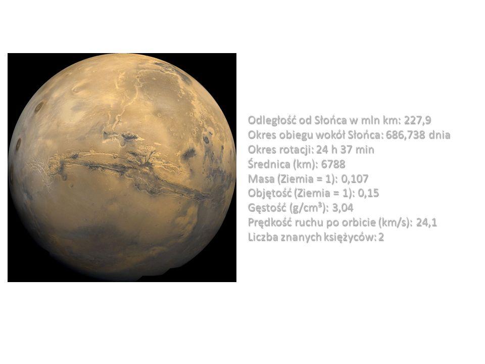 Odległość od Słońca w mln km: 227,9