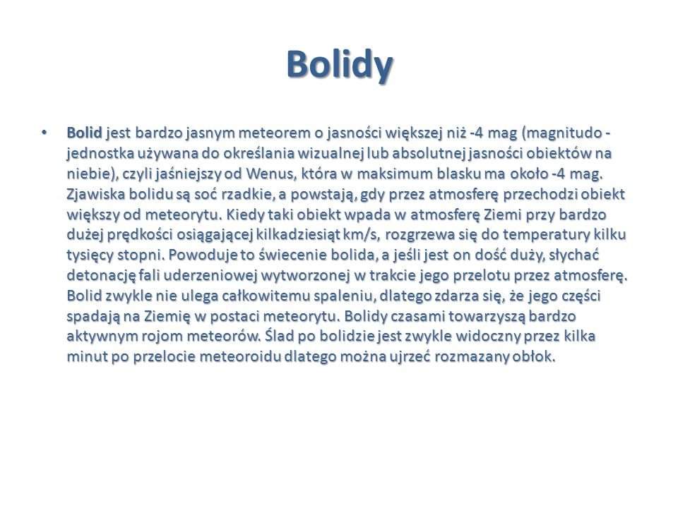 Bolidy