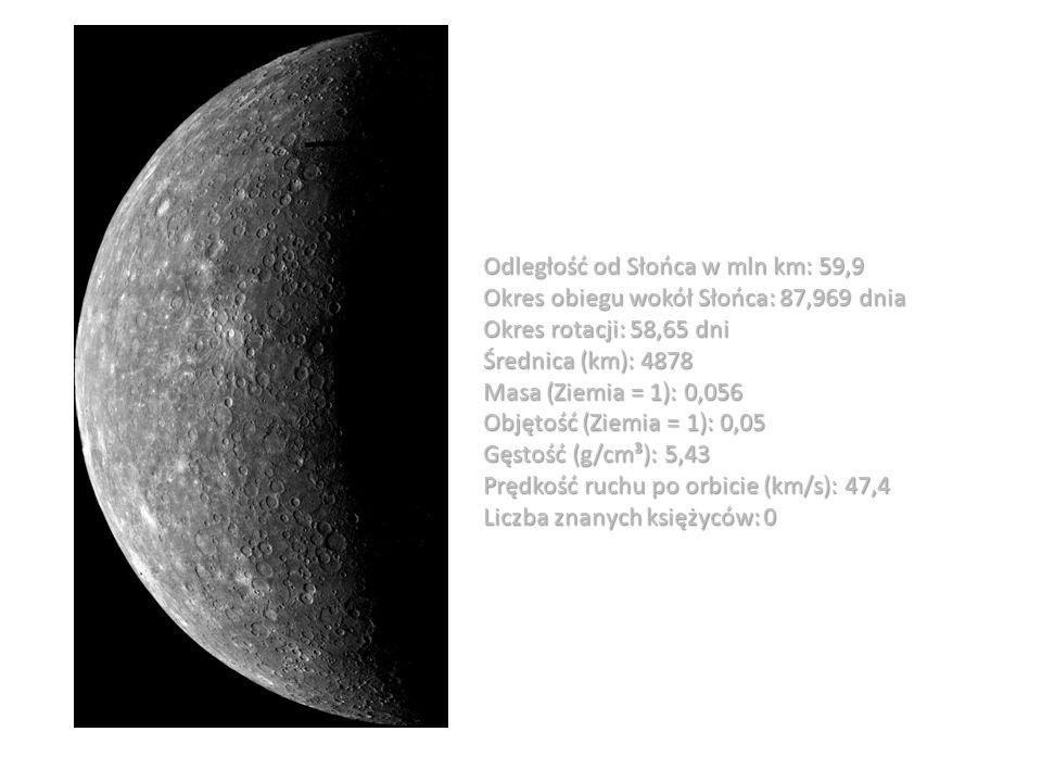 Odległość od Słońca w mln km: 59,9