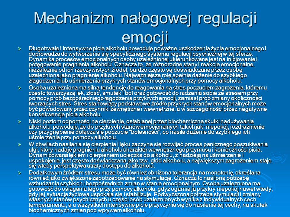 Mechanizm nałogowej regulacji emocji