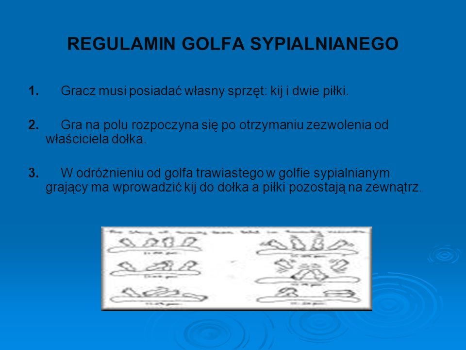 REGULAMIN GOLFA SYPIALNIANEGO