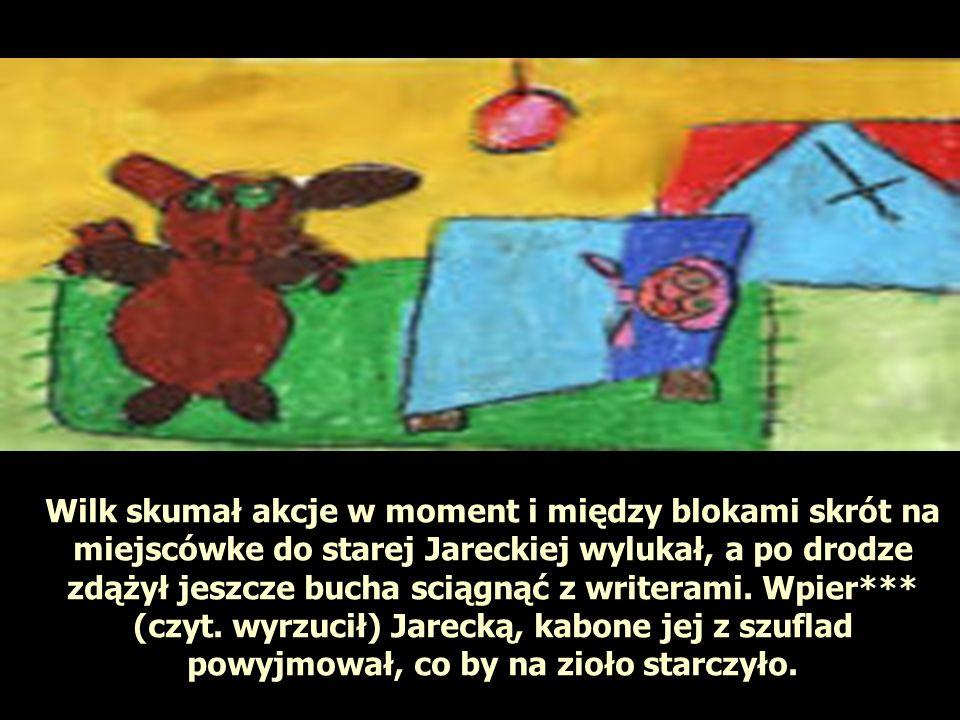 Wilk skumał akcje w moment i między blokami skrót na miejscówke do starej Jareckiej wylukał, a po drodze zdążył jeszcze bucha sciągnąć z writerami.