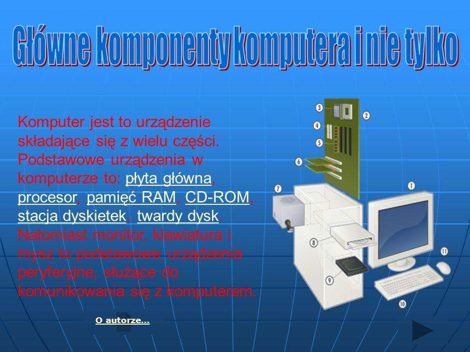 Główne komponenty komputera i nie tylko