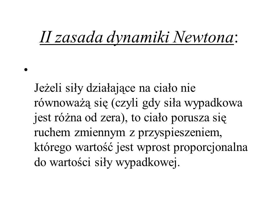 II zasada dynamiki Newtona: