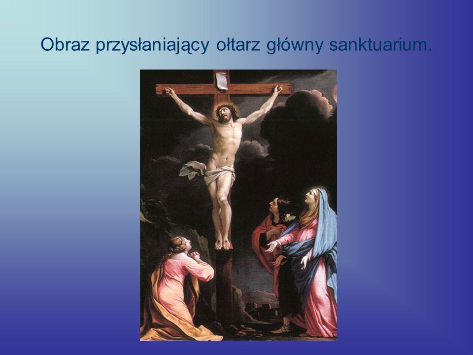 Obraz przysłaniający ołtarz główny sanktuarium.