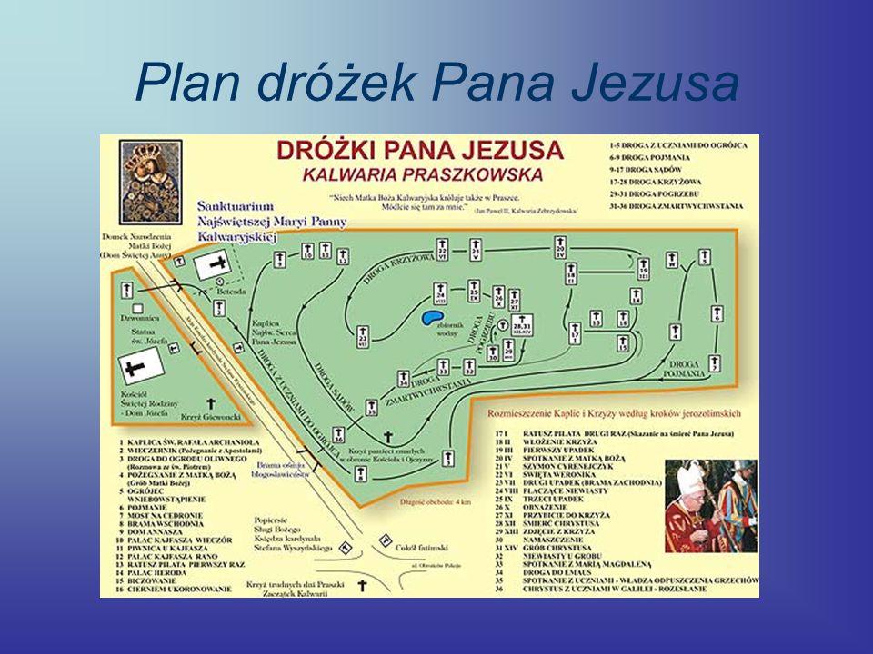 Plan dróżek Pana Jezusa