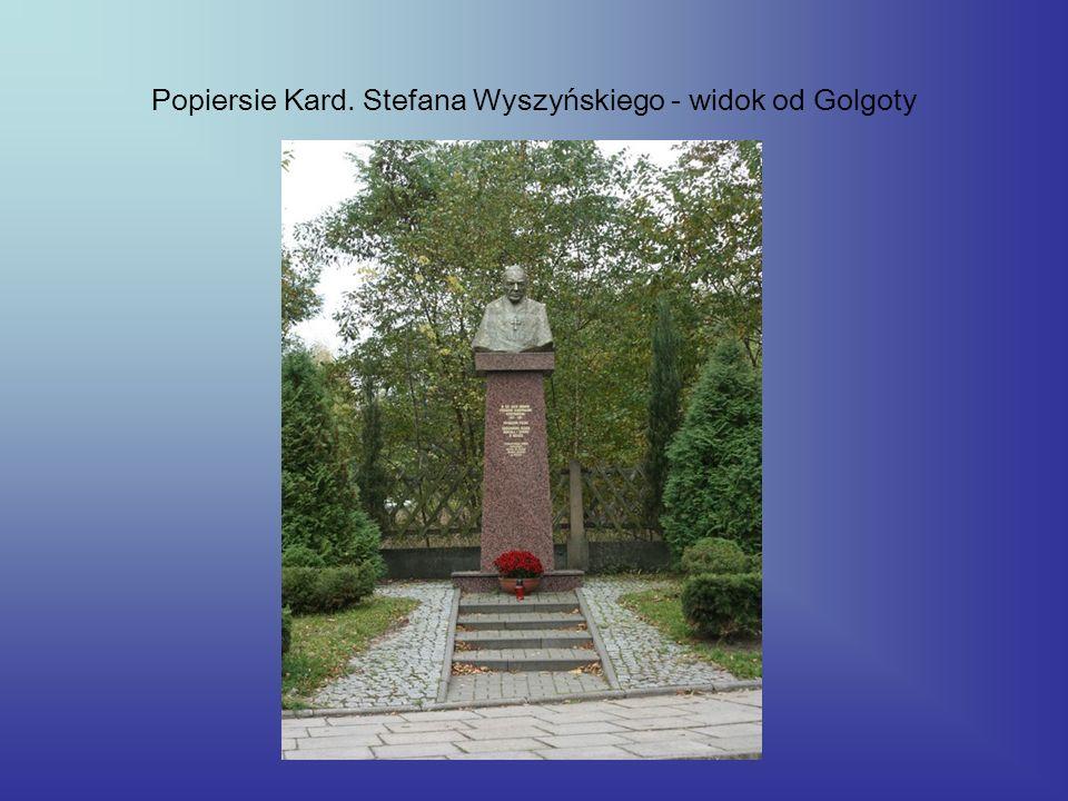 Popiersie Kard. Stefana Wyszyńskiego - widok od Golgoty