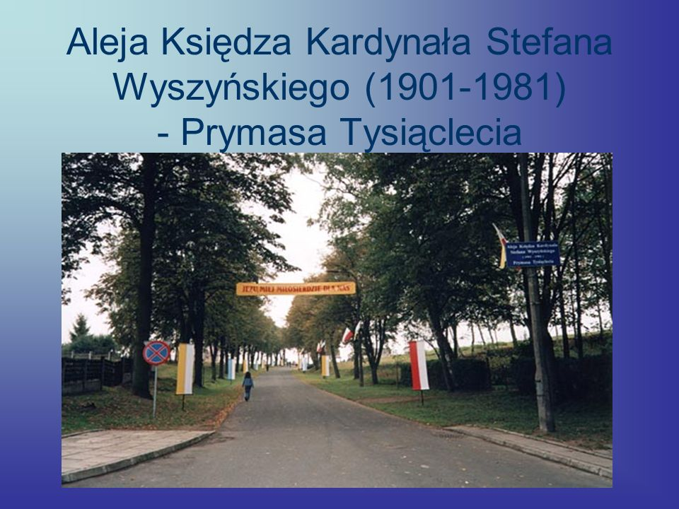 Aleja Księdza Kardynała Stefana Wyszyńskiego (1901-1981) - Prymasa Tysiąclecia