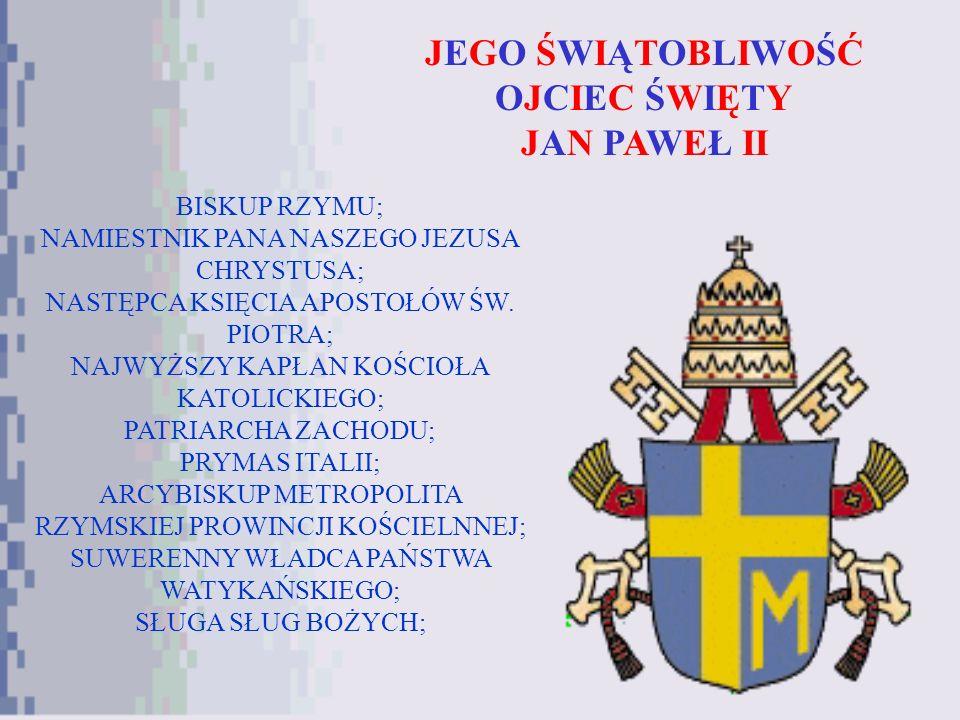 JEGO ŚWIĄTOBLIWOŚĆ OJCIEC ŚWIĘTY JAN PAWEŁ II