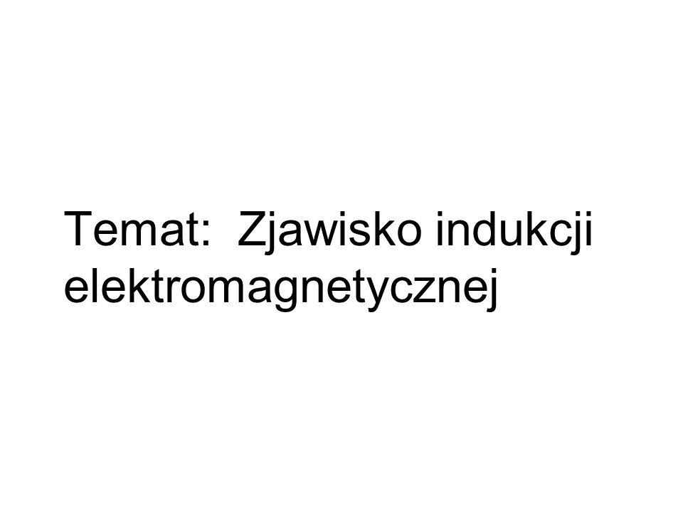 Temat: Zjawisko indukcji elektromagnetycznej