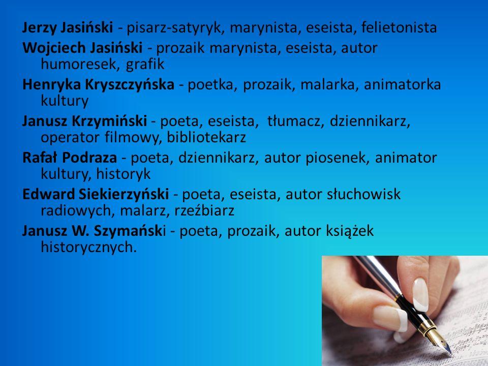 Jerzy Jasiński - pisarz-satyryk, marynista, eseista, felietonista