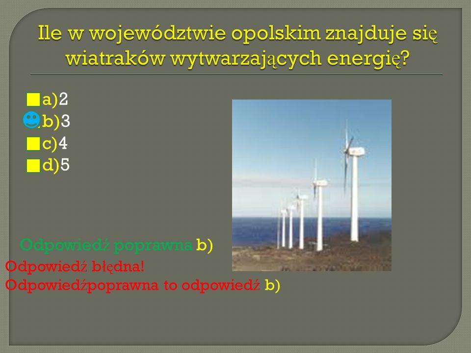Ile w województwie opolskim znajduje się wiatraków wytwarzających energię