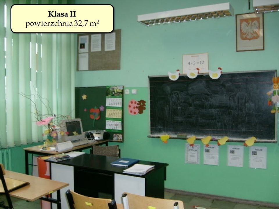 Klasa II powierzchnia 32,7 m2