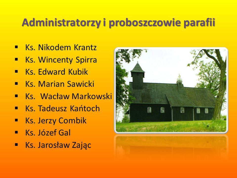 Administratorzy i proboszczowie parafii