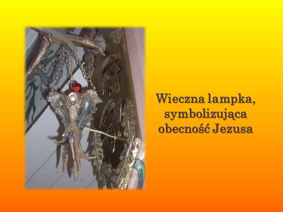 Wieczna lampka, symbolizująca obecność Jezusa