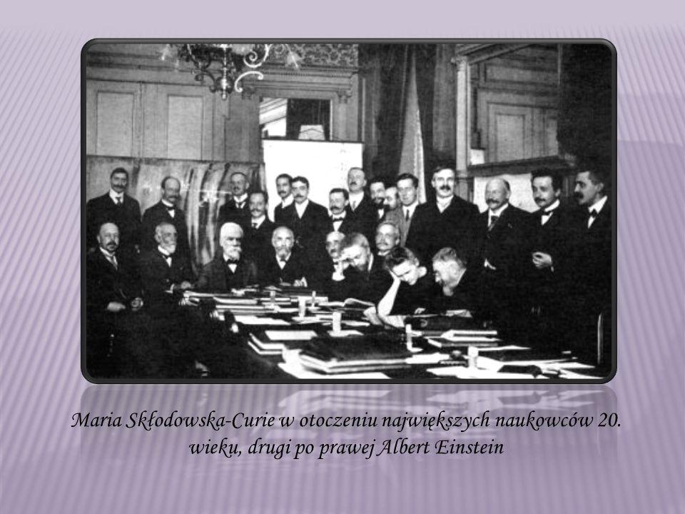 Maria Skłodowska-Curie w otoczeniu największych naukowców 20