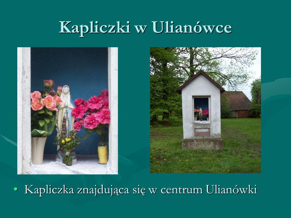 Kapliczki w Ulianówce Kapliczka znajdująca się w centrum Ulianówki