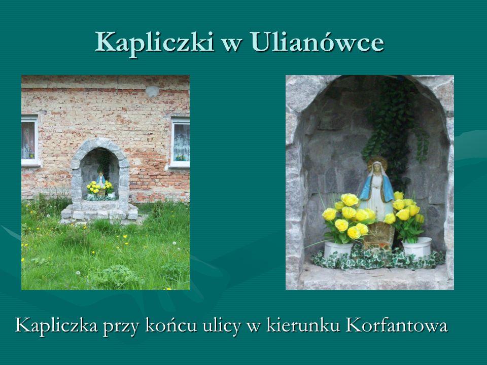 Kapliczki w Ulianówce Kapliczka przy końcu ulicy w kierunku Korfantowa