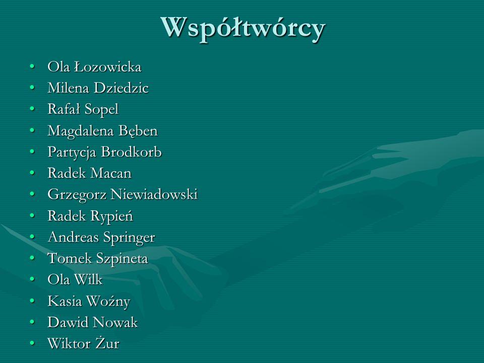 Współtwórcy Ola Łozowicka Milena Dziedzic Rafał Sopel Magdalena Bęben