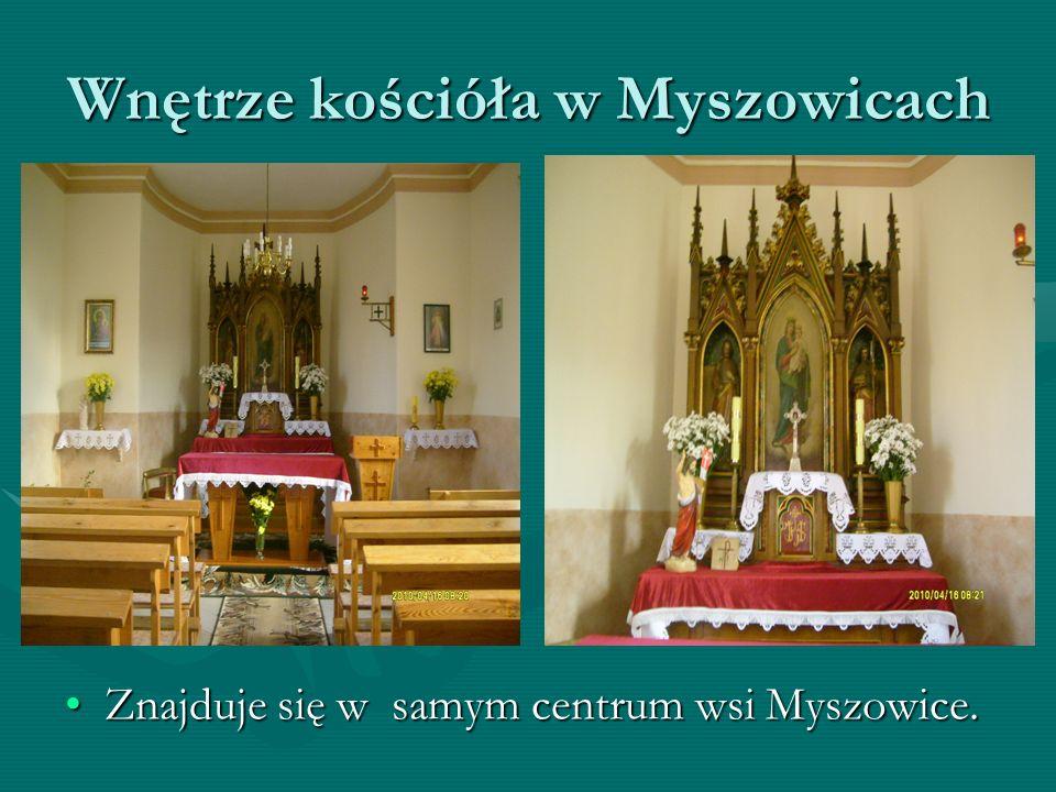 Wnętrze kościóła w Myszowicach