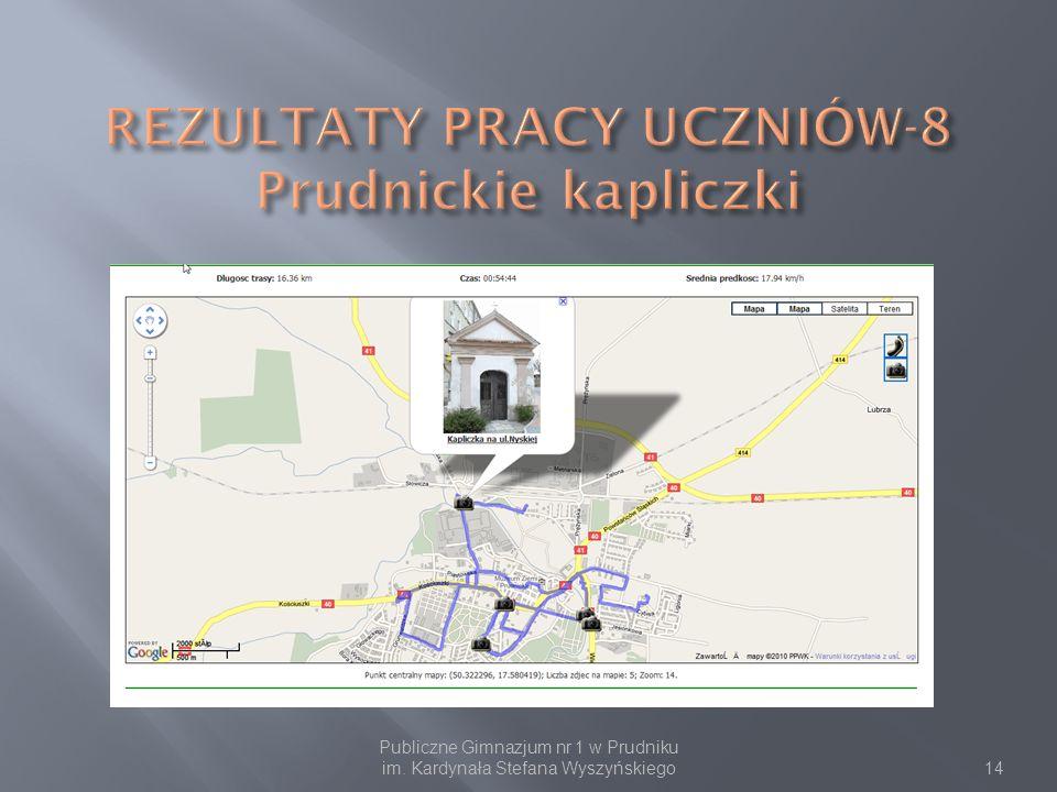 REZULTATY PRACY UCZNIÓW-8 Prudnickie kapliczki