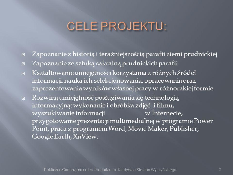 Publiczne Gimnazjum nr 1 w Prudniku im. Kardynała Stefana Wyszyńskiego