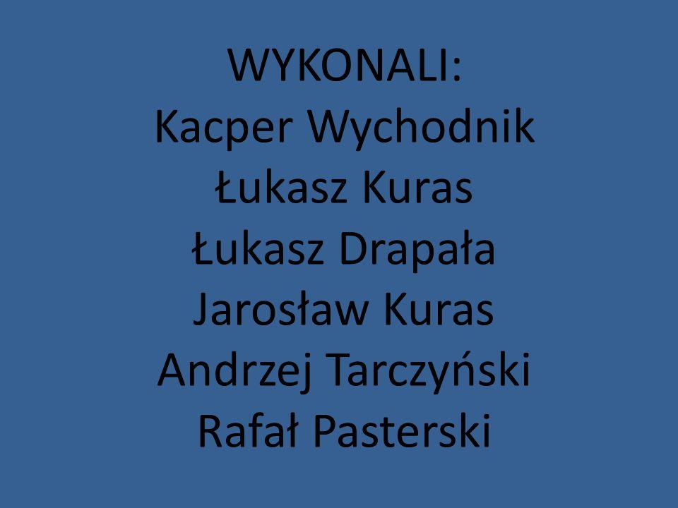 WYKONALI: Kacper Wychodnik. Łukasz Kuras. Łukasz Drapała.