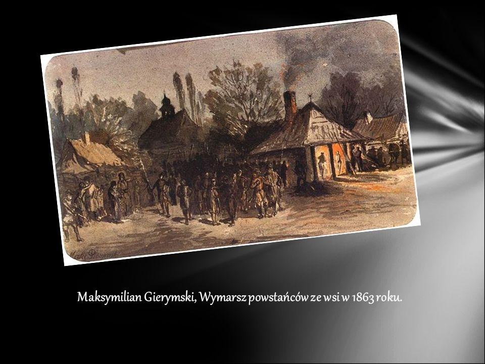 Maksymilian Gierymski, Wymarsz powstańców ze wsi w 1863 roku.