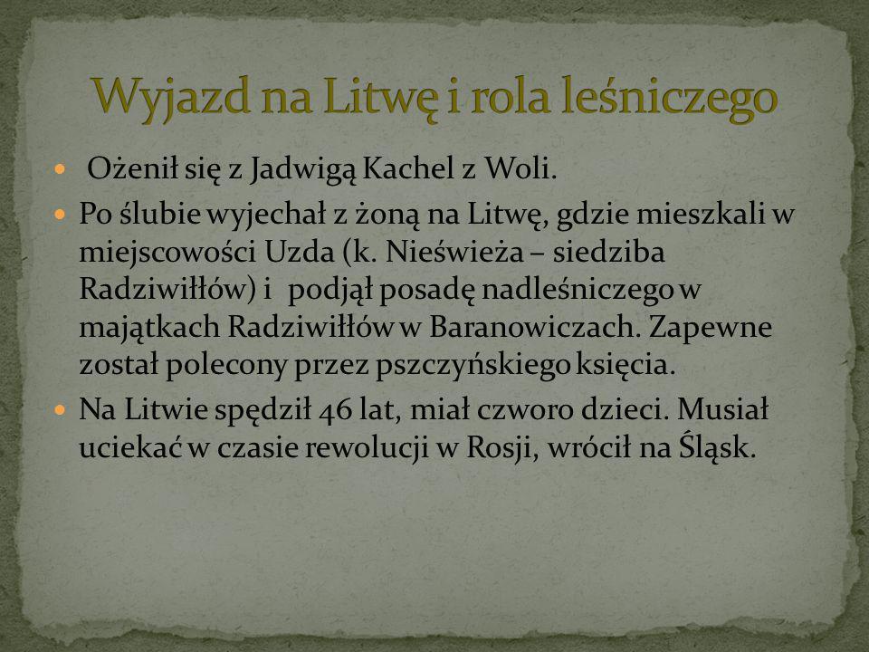 Wyjazd na Litwę i rola leśniczego
