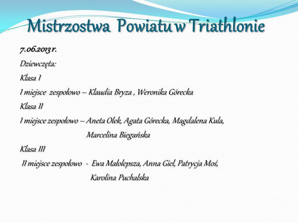Mistrzostwa Powiatu w Triathlonie