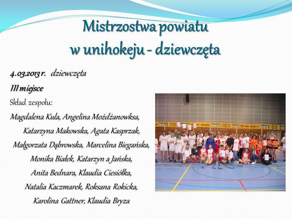 Mistrzostwa powiatu w unihokeju - dziewczęta