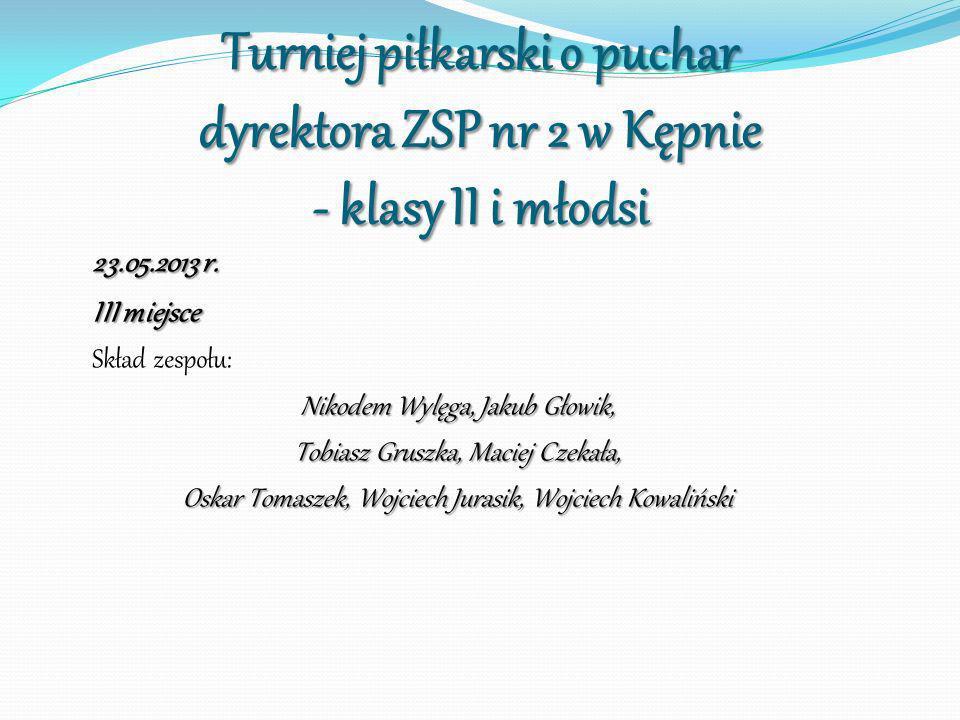 Turniej piłkarski o puchar dyrektora ZSP nr 2 w Kępnie - klasy II i młodsi