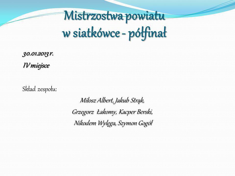 Mistrzostwa powiatu w siatkówce - półfinał