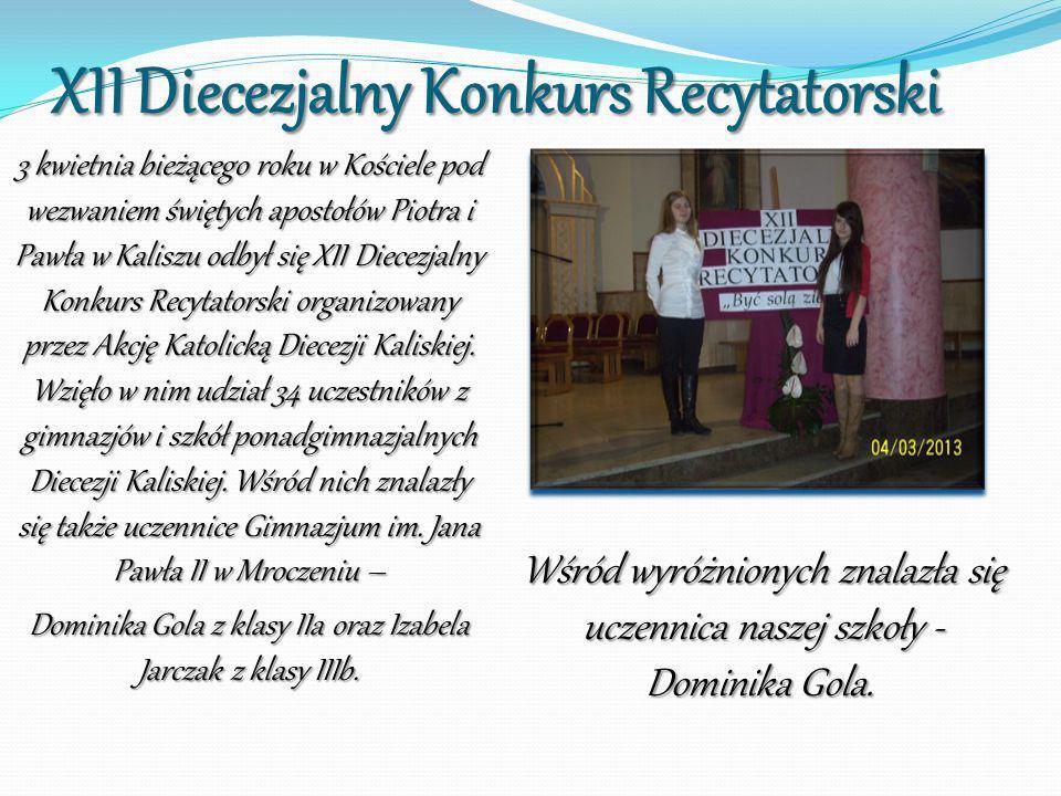 XII Diecezjalny Konkurs Recytatorski