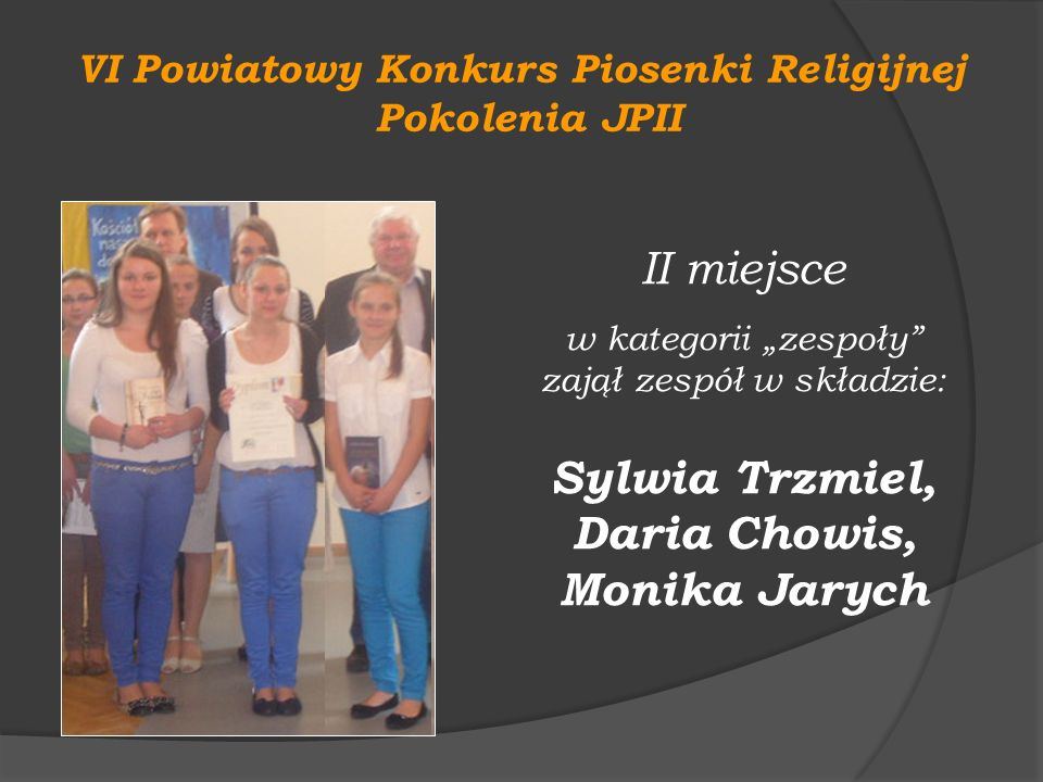 VI Powiatowy Konkurs Piosenki Religijnej