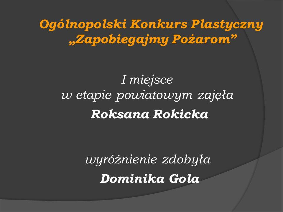 """Ogólnopolski Konkurs Plastyczny """"Zapobiegajmy Pożarom"""